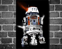 Star Wars droid movie poster minimalist poster star wars art R5-D4