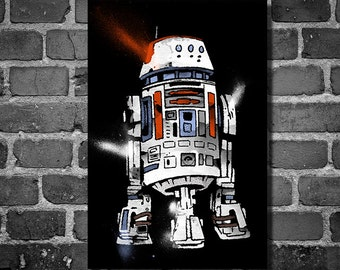 Star Wars droid movie poster minimalist poster star wars art R5-D4