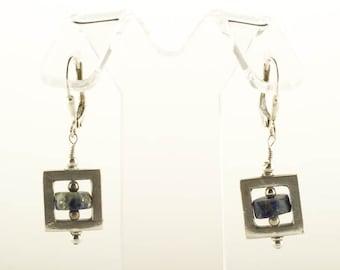 Mod Earrings Lapis Blue