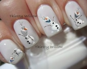 Olaf Nail Decals