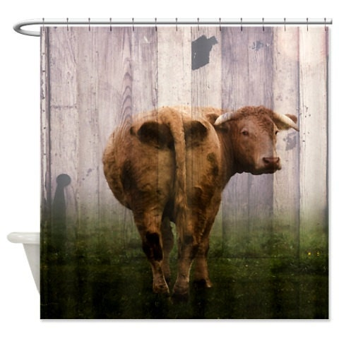shower curtain cow door primitive farm house decor - Cow Shower Curtain Cow Skull Shower Curtain By Society6 Free