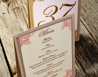 Romantic Dining - Tented Menu