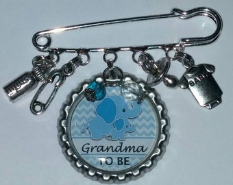 It's a boy grandma to be pin baby shower gift