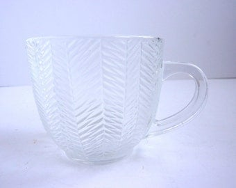 french vintage arcoroc cup