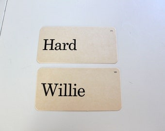 Saucy vintage school card- Hard Willie