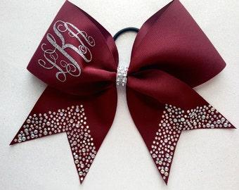 """The """"Lexi"""" Burgundy Cheer Bow"""