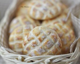 Bread-Bakery-Miniature Dolls House Scale-twelfth-Pane Rustico Turtle-Dollhouse-Store Bakery