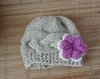Baby Hat, Baby Girl Hat Newborn Hat Photo Prop, Baby Girl Knit Hat, Infant Hat Newborn Baby Girl Hat, Baby Girl Newborn Hat, baby shower