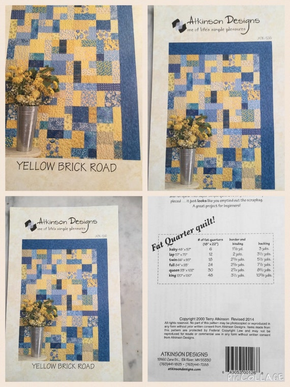 Yellow Brick Road Quilt Pattern By Atkinson Designs From