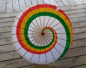 "Kaylee's SILK Rainbow Distressed Parasol ""Firefly"""