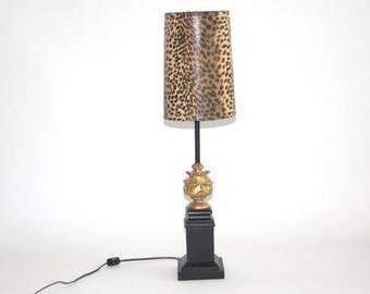 Vintage Gilded Cheetah Lamp
