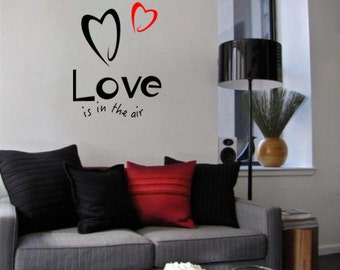 Love is in the air Modern Wall Vinyl Decal