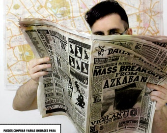 Daily Prophet Double Sided - COVER AND BACKCOVER  - Mass Breakout From Azkaban