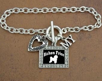 Heart My Bichon Frise Bracelet