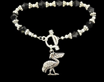 Pelican Beaded Toggle Bracelet