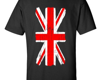 Distressed Union Jack Great Britain Flag T Shirt
