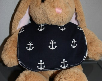 Navy Anchor Baby Gift Set Bib, Burp Cloth