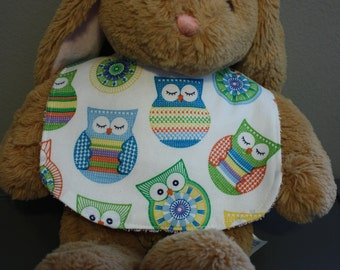 Owl Baby Gift Set Bib, Burp Cloth