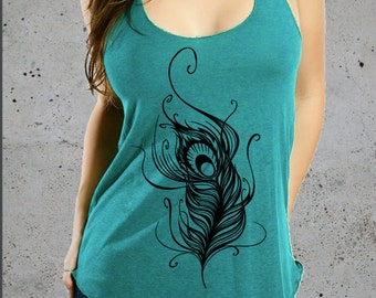FEATHER TShirt, American Apparel Women's Boho Tee, S M L Multiple Colors Available,instagram likes,instagram