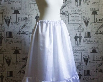 Longer Length Double Satin Petticoats - Hand Crafted to ANy Size