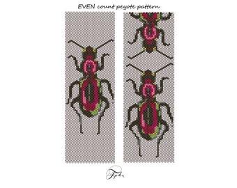 peyote pattern broscinae beetle bracelet