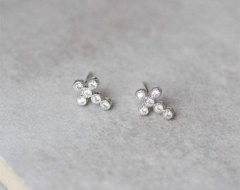 Pavé Cross Earrings