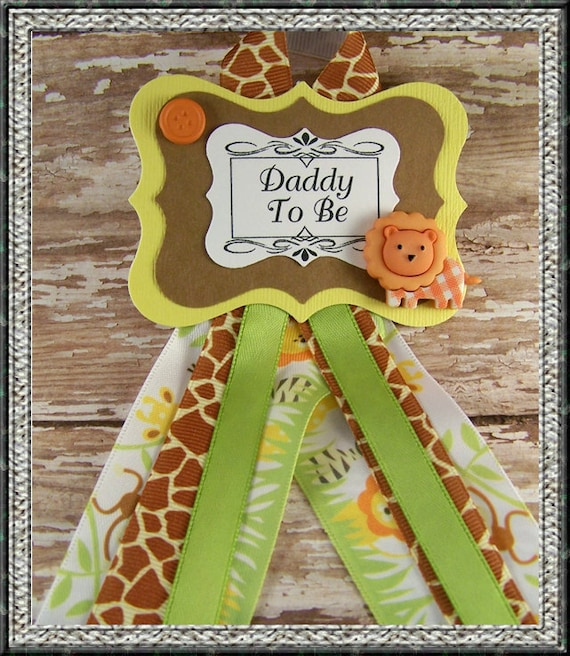 Safari Baby Shower Corsage: Items Similar To Safari Daddy To Be Corsage Or Safari