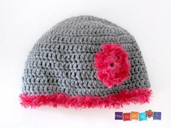 Crochet Hat Pattern Teenager : Crochet Hat Pattern PDF Crochet Hat For Teen Flower Hat