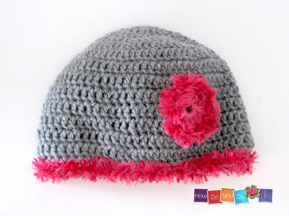 Crochet Beanie Pattern With Flower : Crochet Hat Pattern PDF Crochet Hat For Teen Flower Hat