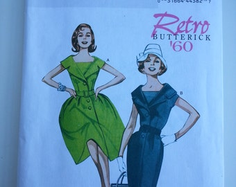 60s style dress/ mother bride /Pleated / retro/ fitted /dress 2012 sewing pattern, size 8 10 12 14 16, Bust 31 32 34 36 38, Butterick B 5747