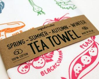 Seasonal Fruit and Vegetables Tea Towel – by ingredimates