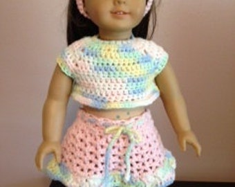 Doll outfit made to fit American Girl doll