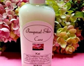 Ultra Conditioning Hair Lotion - 4 oz Bottle, Silk Amino Acids, Paraben Free,  ProVitamin B5, Reconstructive, detangling formula