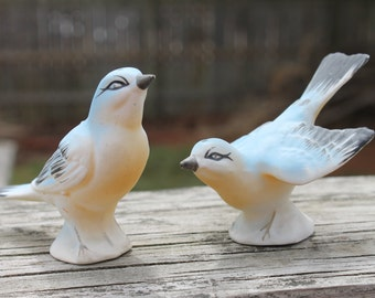 Beautiful Vintage Blue Birds Salt and Pepper Shakers - Made in Japan