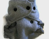 CLEARANCE! SMALL Front Snapping Fleece Diaper Cover in Gray