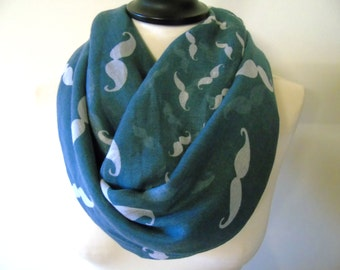 Loop infinity scarf, mustache scarf, beard scarf, large scarf, eternity scarf, circle scarf, loop scarf, winter scarf, holiday gift