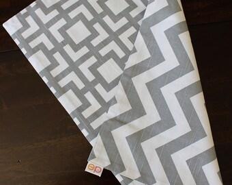Gray Tile & Chevron Placemat