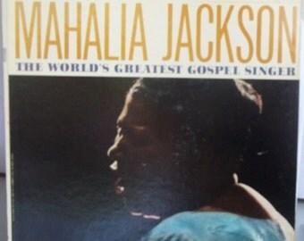 Mahalia Jackson, The World's Greatest Gospel Singer, Vintage Record Album, Vinyl LP, Religious Music, Southern Gospel, Fall Jones Ensemble