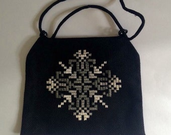 Vintage 70's Embroidered Purse