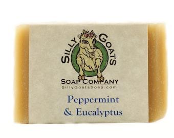 Handmade Eucalyptus and Peppermint, Goats Milk Soap