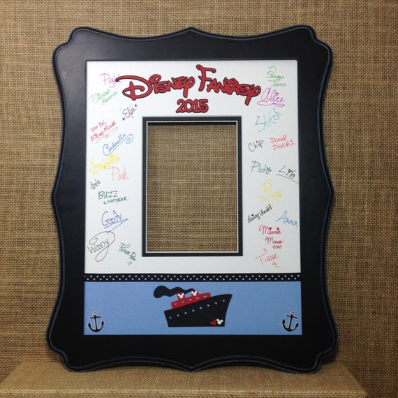 Disney Cruise Blue Autograph Book Idea Photo Mat Signature