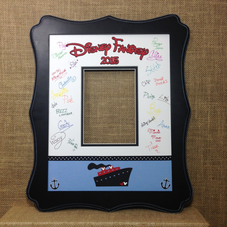 Disney Cruise Blue Autograph Book Idea Photo Mat