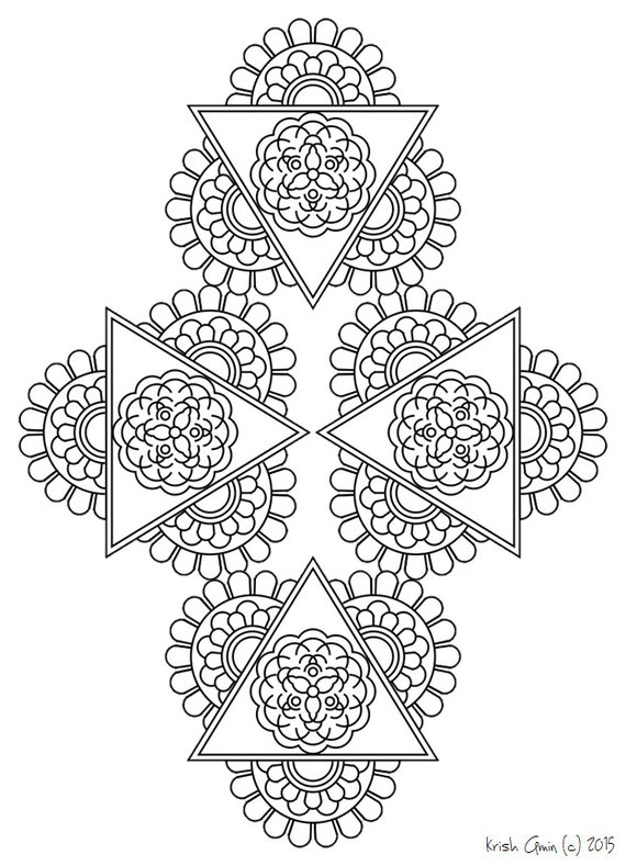 intricate mandala coloring pages - photo#25