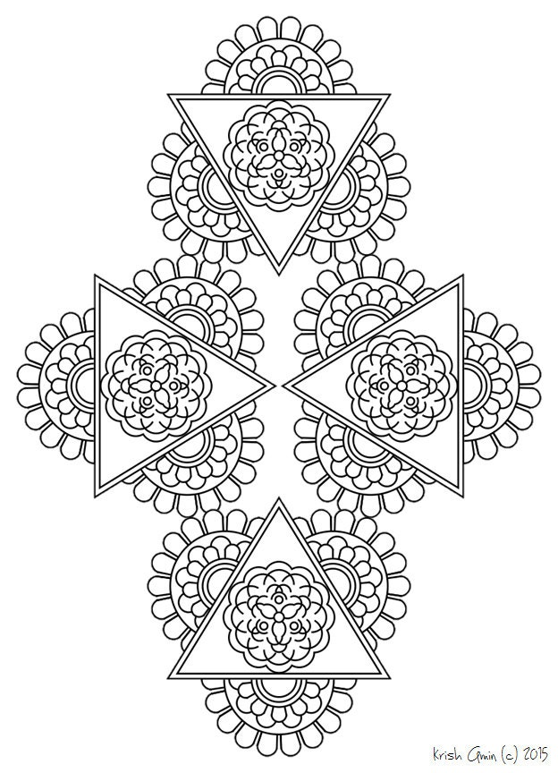 138 printable intricate mandala coloring pages by krishthebrand