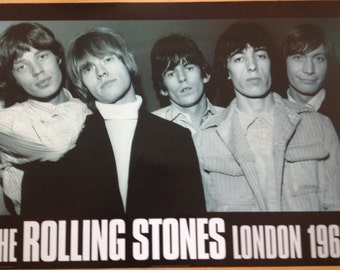 The Rolling Stones London 1965 Poster 24 x 33 1/2