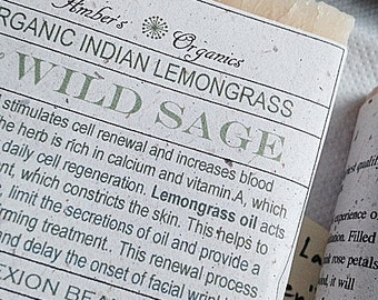 Organic Indian Lemongrass & Wild Sage - Detox Facial Handcrafted Soap