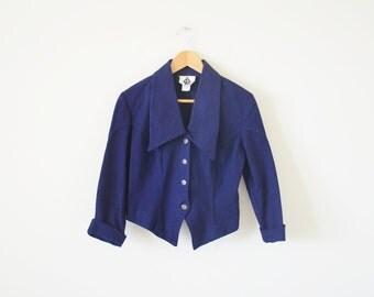 SALE ~ Vintage navy jacket / denim jacket / medium