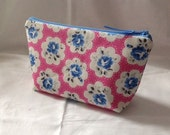 Handmade Makeup bag  Pencil case using Cath Kidston Provence Rose Electric Pink Fabric