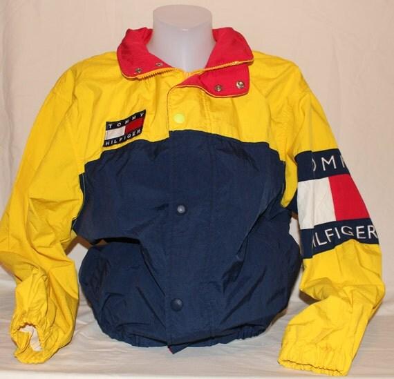 vintage tommy hilfiger windbreaker jacket lightweight coat hip. Black Bedroom Furniture Sets. Home Design Ideas