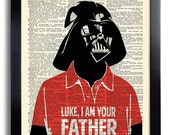Star Wars Darth Vader I am your Father Quote Star Wars art print Dictionary book page print funny Darth Vader Poster t-shirt Wall Art 508
